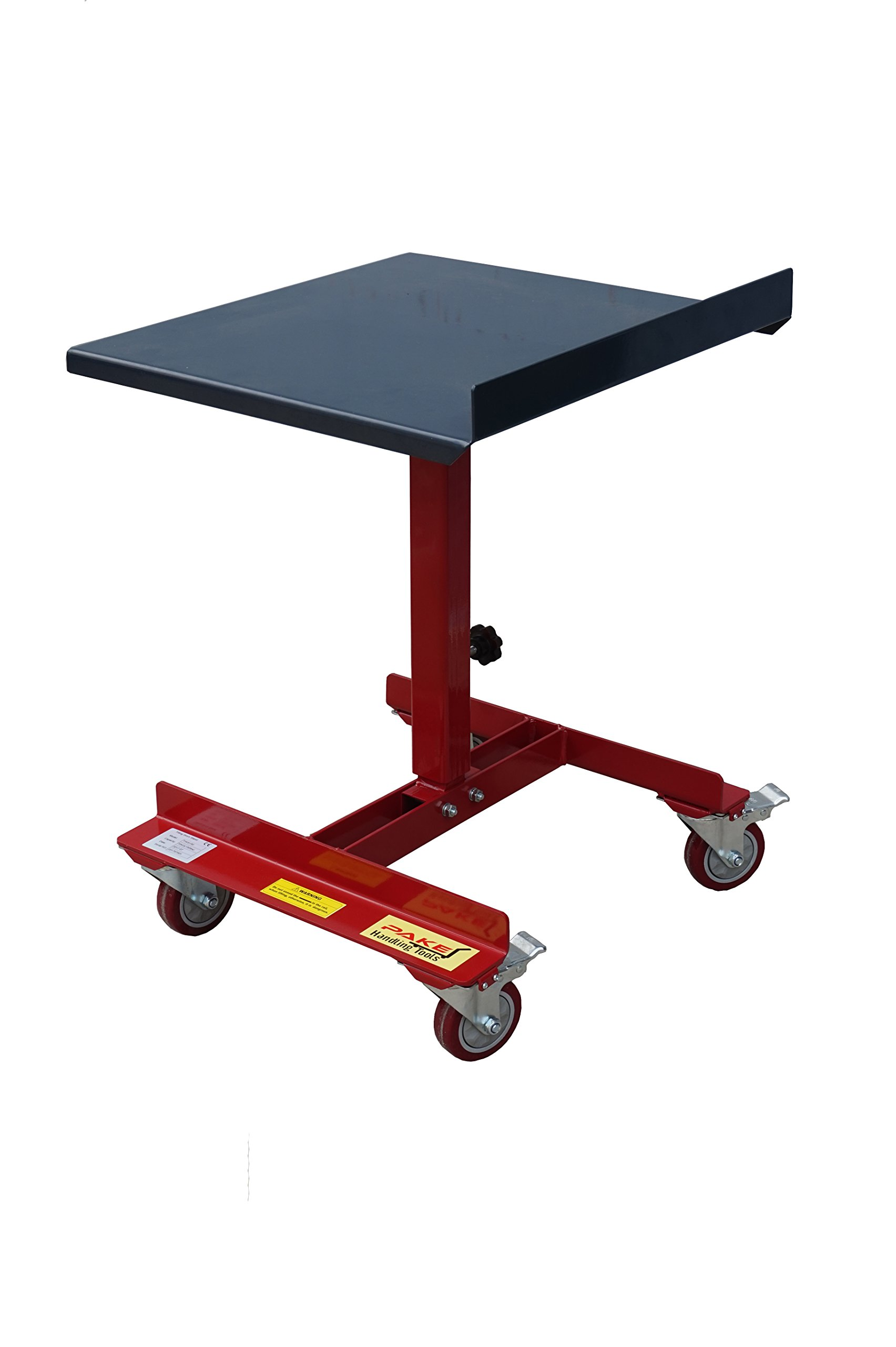 Pake Handling Tools - Tilting Work Table, 150 lbs Capacity, 22x21'', 28 to 38'' Height, 45 Degree Tilting