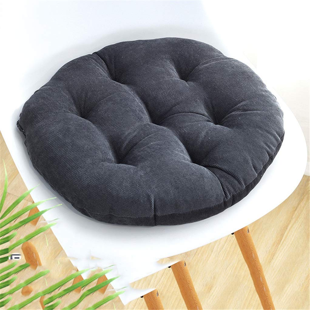 Zuodian Increase Thickening Corduroy Round Cushion futon mat Dining Chair Cushion Tatami mat Office Soft Cushion Pillow Diameter 42cm Diameter 55cm (Color : Gray, Size : D-55CM) by Yilian