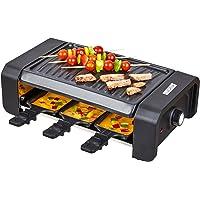 KLAGENA raclette con grill y 6 sartenes raclette – plancha grill/parrilla– con 2 años de garantía de devolución de dinero