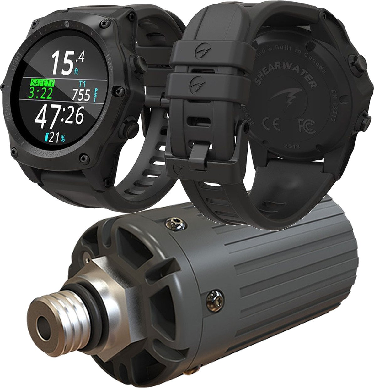 Shearwater Research Teric Wrist Dive Computer with Transmitter by Shearwater