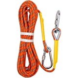 多目的ロープ ダイナミックロープ クライミングロープ 高強度 多機能 太さ8mm 長さ10m 20m 30m 50m オレンジ