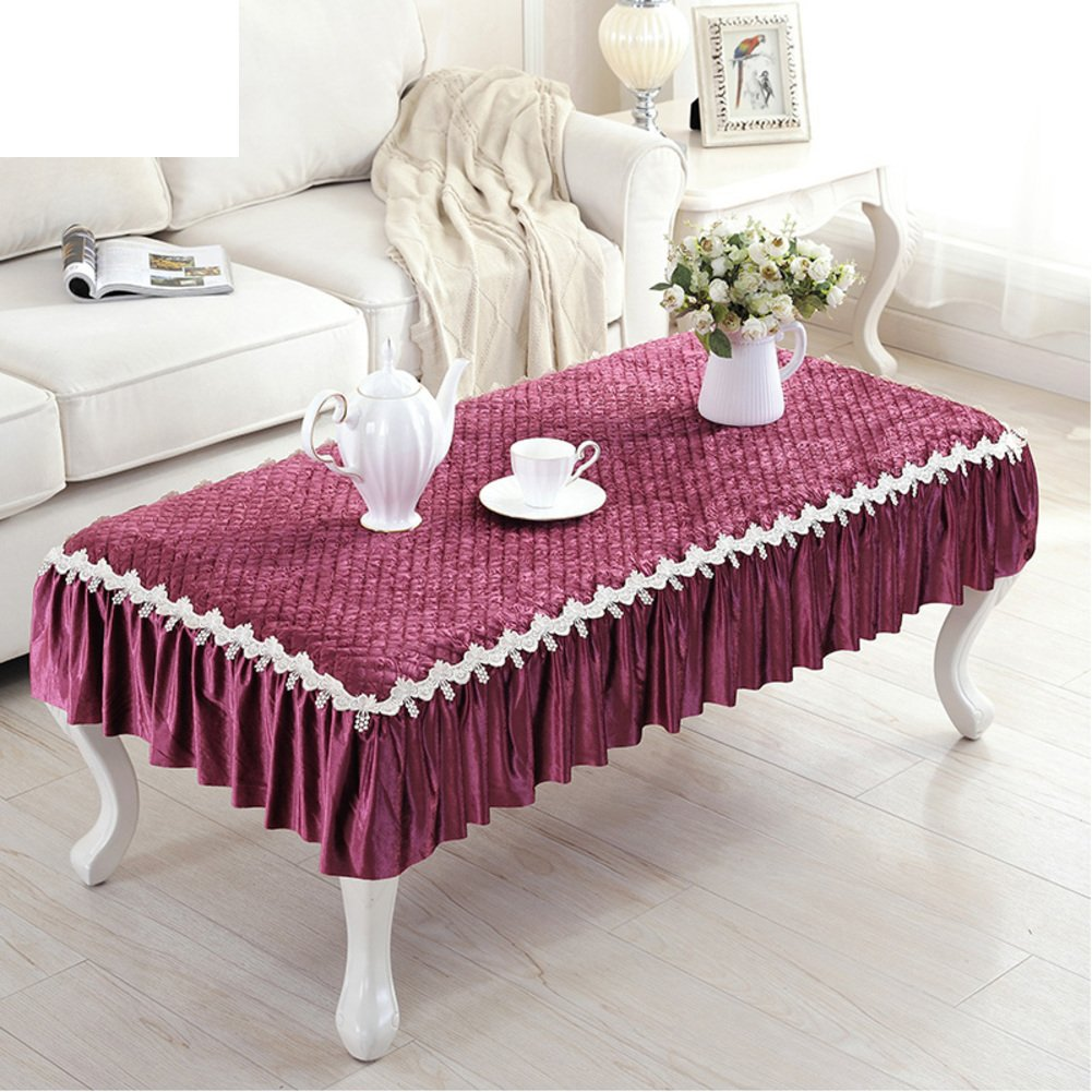 European Coffee Table Pad,Cloth Waterproof Anti-hot Soft Tablecloth,Coffee Table Table Mat-D 90x160cm(35x63inch)
