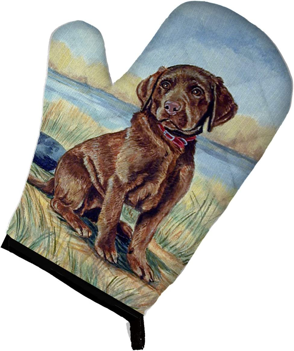 Caroline's Treasures 7090OVMT Chocolate Labrador Puppy Oven Mitt, Large, multicolor