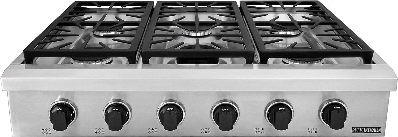 Amazon.com: SDADI SDRT3601U - Encimera de gas de cocina de ...