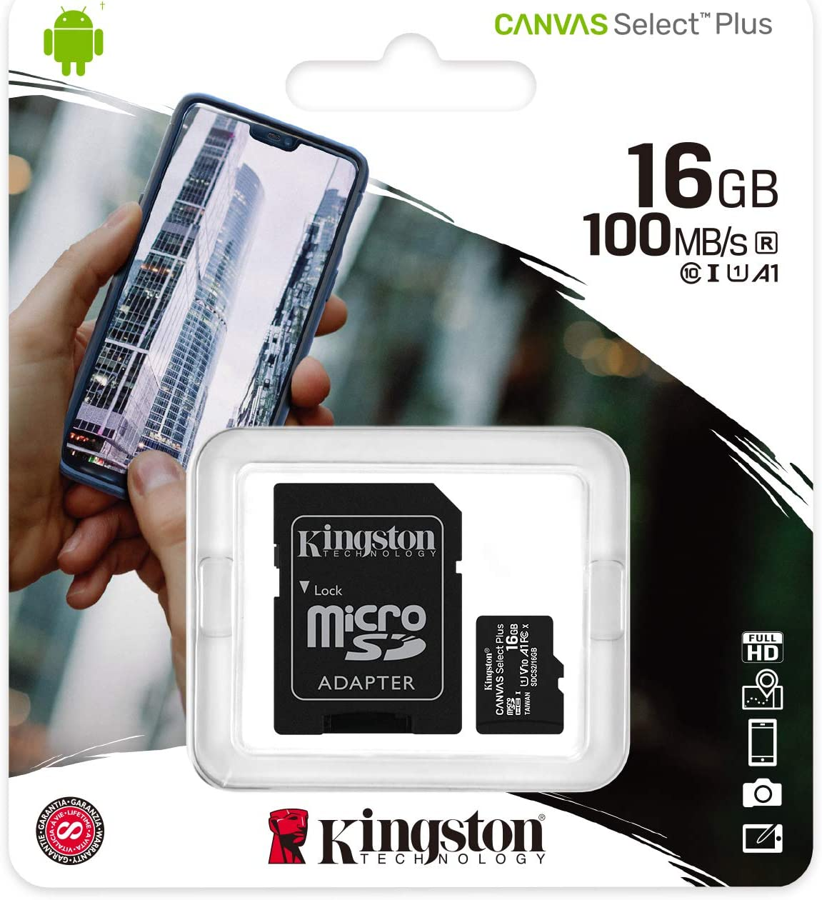 Professional Kingston 16GB MicroSDHC Card for Archos 97b Platinum HD Tablet with custom formatting and Standard SD Adapter. . Class 4