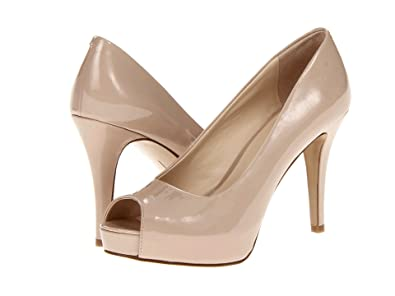 Nine West Camya Women US 10.5 Nude Peep Toe Platform Heel 9f8266c4b542