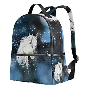 f223ccea7b3297 Image Unavailable. Image not available for. Color: School Backpack for Girls  White Unicorn ...