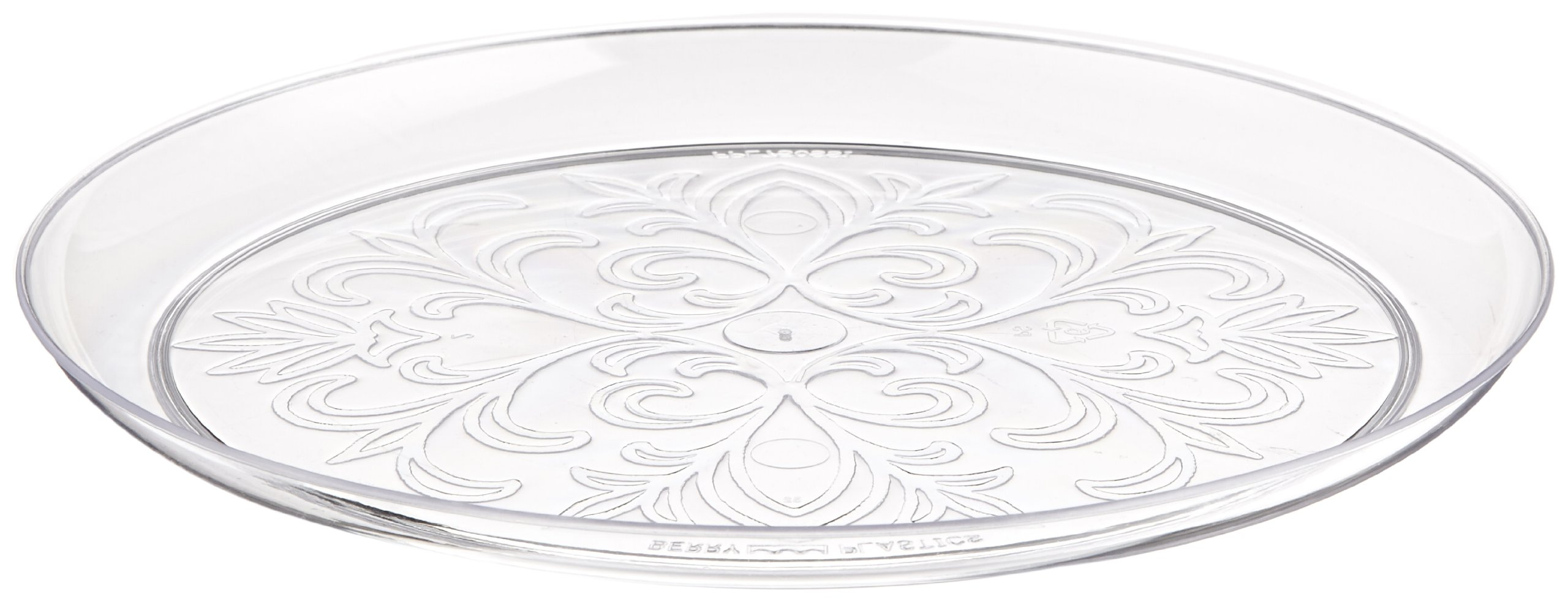 ScrollWare Rigid Plastic Plate, 7.5-Inch Diameter, Clear (240-Count) by WNA