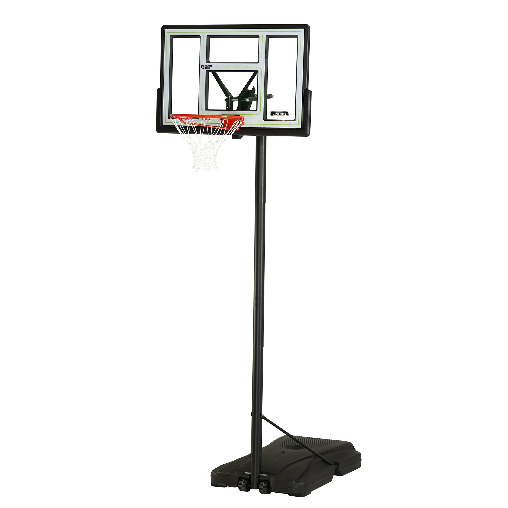 Lifetime 90782 Fusion Courtside Portable Basketball System, 46'' Backboard by Lifetime