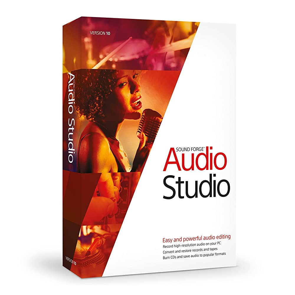 front facing sony sound forge audio studio 10