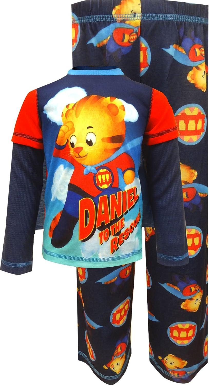 Daniel Tigers Neighborhood Little Boys Toddler Pajama Top with Cape 3pc Pajama Set
