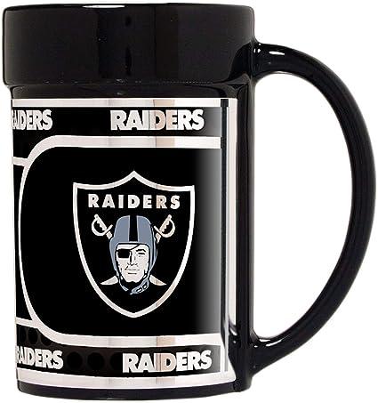 Raiders 15 oz Ceramic Coffee Mug with Metallic Graphics
