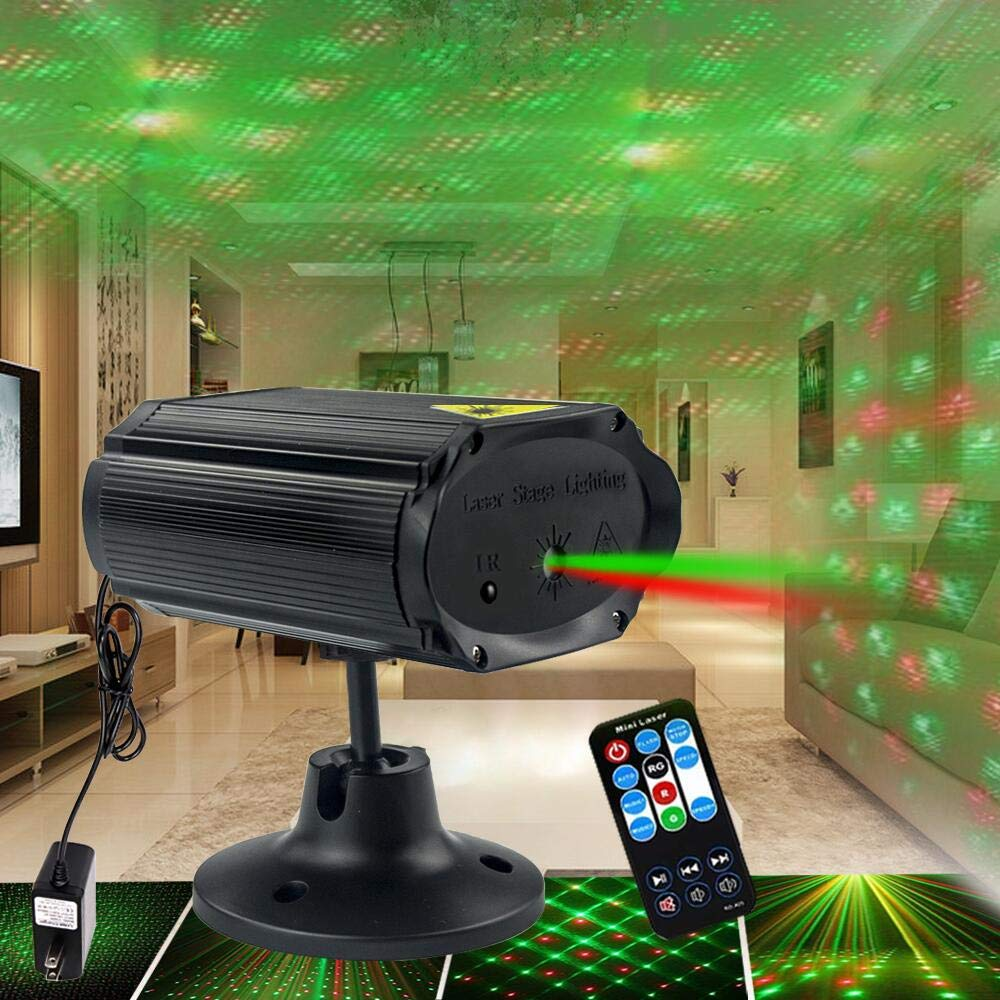 QinGers Party Lights Disco Lights Stage lights Sound Activated with Remote Control Strobe Projector for Home Party Ballroom Bands Wedding Show Bar Karaoke KTV Club by QinGers