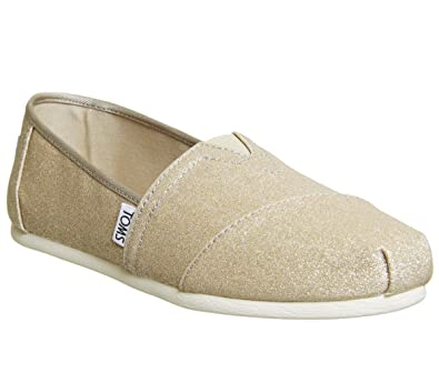 Amazon.com | TOMS Womens, Alpargata Shimmer Slip on Shoes Rose Gold 5 M | Loafers & Slip-Ons