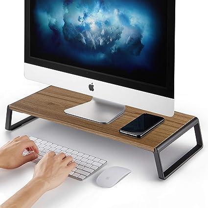 Soporte para monitor AboveTEK con pies de metal para ordenador portátil, iMac, impresora, televisor y pantalla LCD: Amazon.es: Oficina y papelería