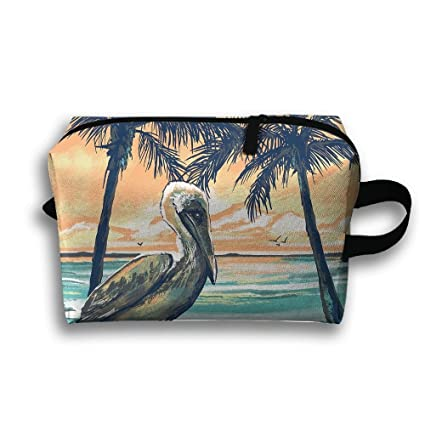 Storage Bag Travel Pouch Pelican Sunset Beach Purse ...