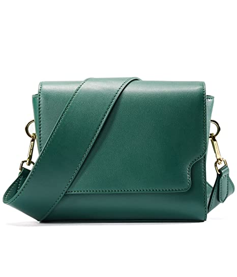 9d063ad2ac Buy EMINI House Women Siple Stylish Saddle Bag Wide Strap Crossbody Bag-Dark  Green Online at Low Prices in India - Amazon.in