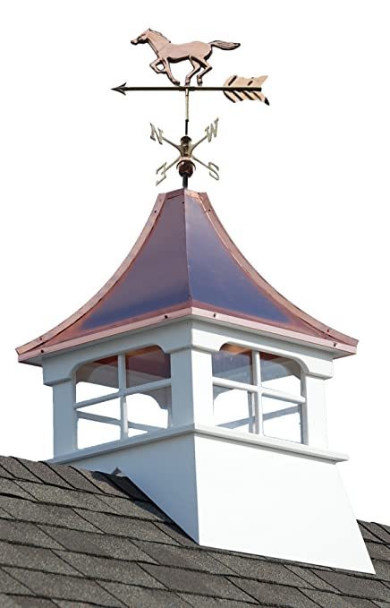 Amazoncom Accentua Charleston Cupola With Horse Weathervane 24 In