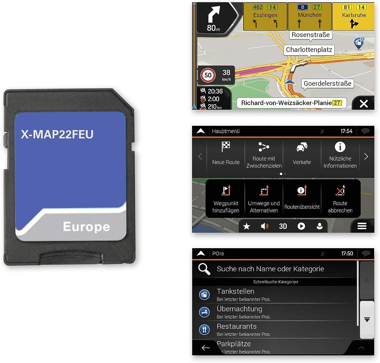 Xzent X Map22feu Micro Sd Karte Mit Pkw Navigation Für Xzent Mediencenter X 422 Und X F220 Europaweite 3 D Karten Tmc Navigation