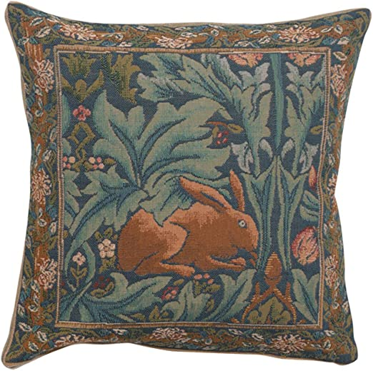 "20/"" DECORATIVE TAPESTRY PILLOW COVER Butterfly /& Flowers EURO CUSHION ACCENT"
