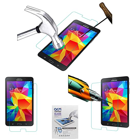 ACM Tempered Glass Screenguard for Samsung Tab 4 7 Sm T231 Screen Guard Scratch Protector Touch Screen Tablet Screen Protectors