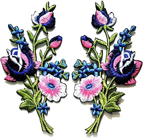 Wild Birds Wild Flowers R Iron On Embroidery Applique Patch Sew Iron Badge