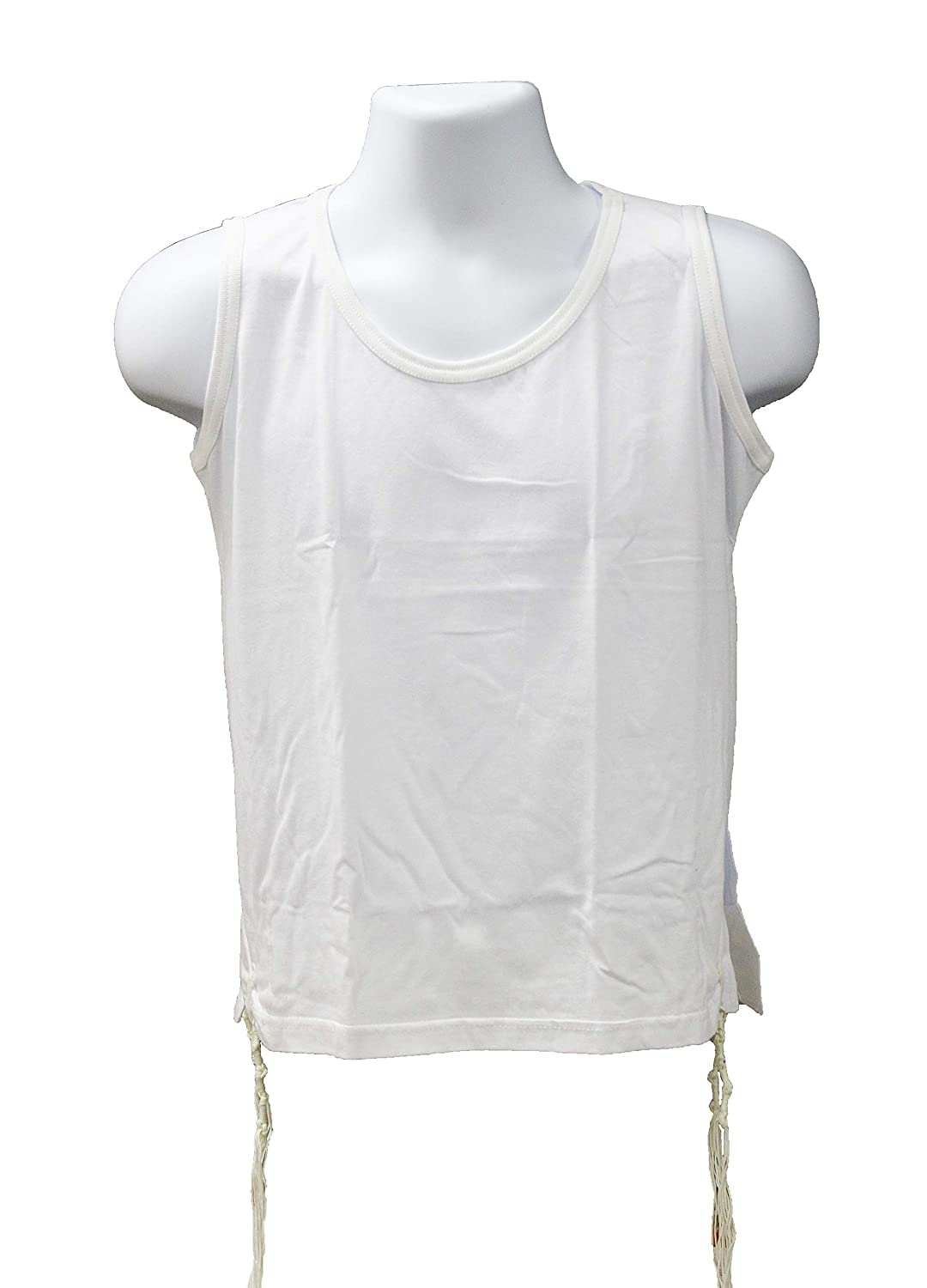 Zion Judaica 100% Cotton Comfortable Quality T-Shirt Tzitzis Garment Certified Kosher Imported from Israel in All Sizes