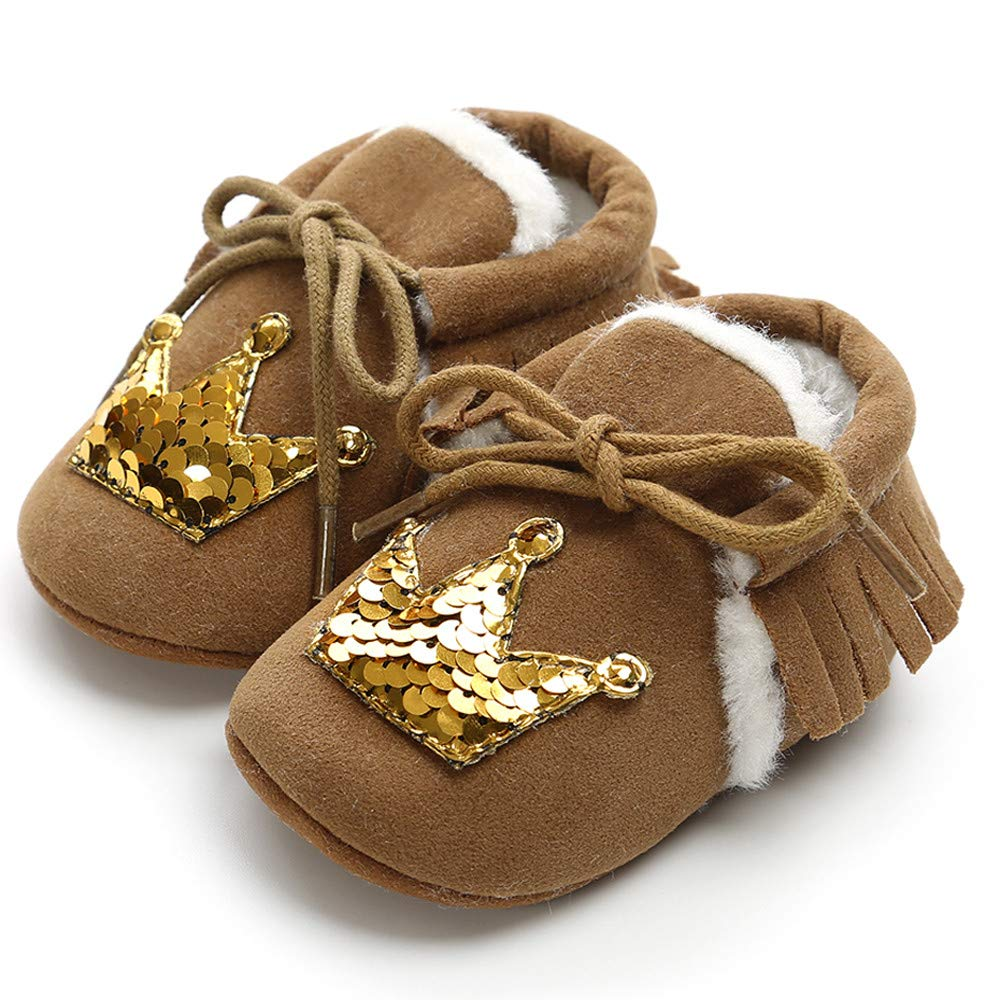 Lurryly❤Kids Baby Cotton Keep Warm Sequins Prewalker First Walkers Shoes Infant//Toddler