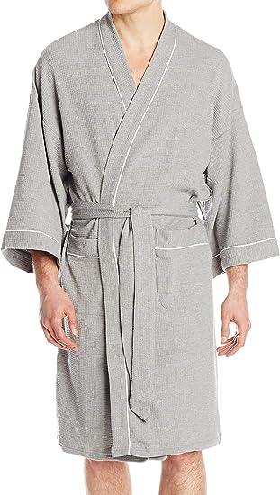 New Fruit of the Loom Men/'s Waffle Kimono Robe one Size