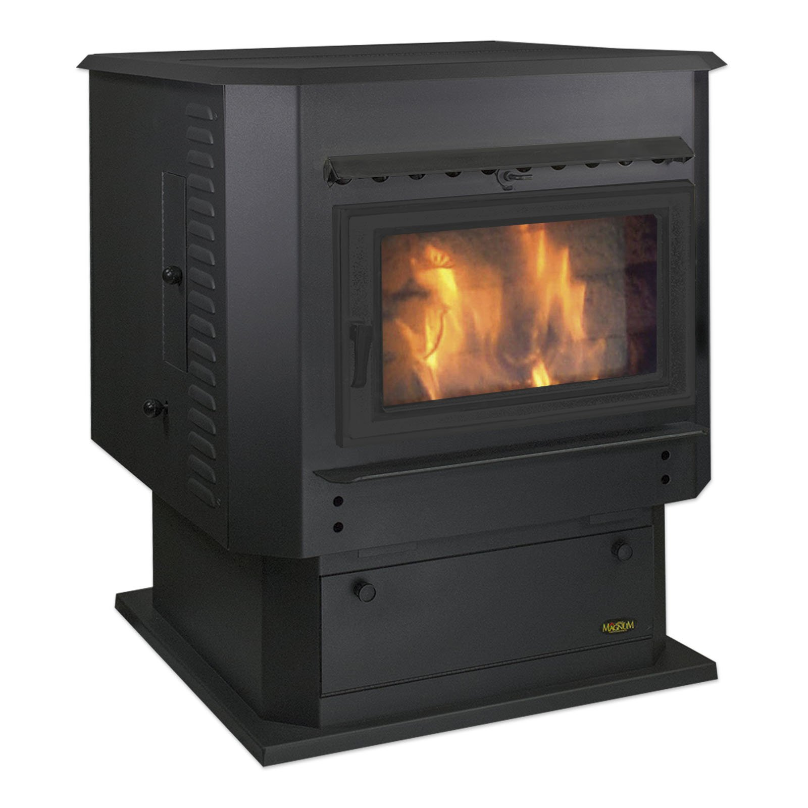 Classic Black MagnuM Grand Countryside Wood Pellet Stove 56,000 BTU Hand Built in USA