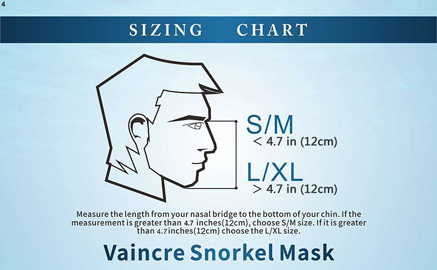 Vaincre 180° Full Face Snorkel Mask with Panoramic View Anti-Fog, Anti-Leak with Adjustable Head Straps with longer Snorkeling Tube Larger Area