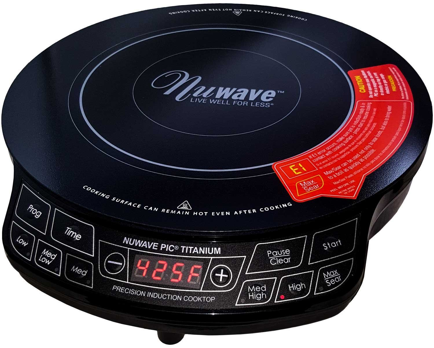 NuWave PIC 1800W Portable Induction Cooktop Countertop Burner, Titanium by NuWave