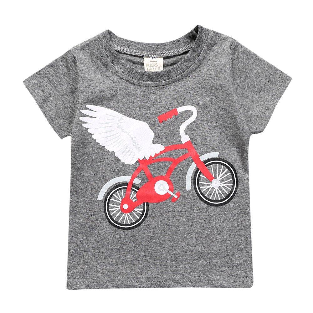 Summer Newborn Baby Girls Boys Grey Pear Short Sleeve T-Shirt Tee Tops Fuzhou Shang Ku Trade Co. Ltd.