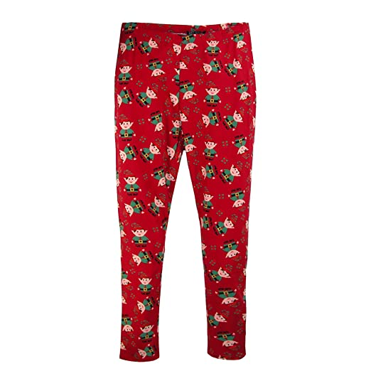 67e175bfbb5 Just One Women s Plus Size Christmas Elves Holiday Leggings Red at Amazon  Women s Clothing store