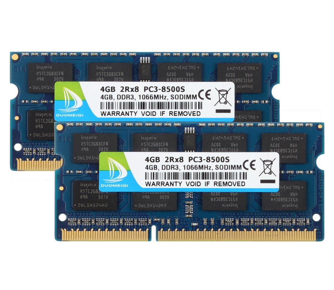 2 X 4gb) 2rx8 Pc3-8500 Pc3-8500s Ddr3 1066mhz Sodimm 204 Pin