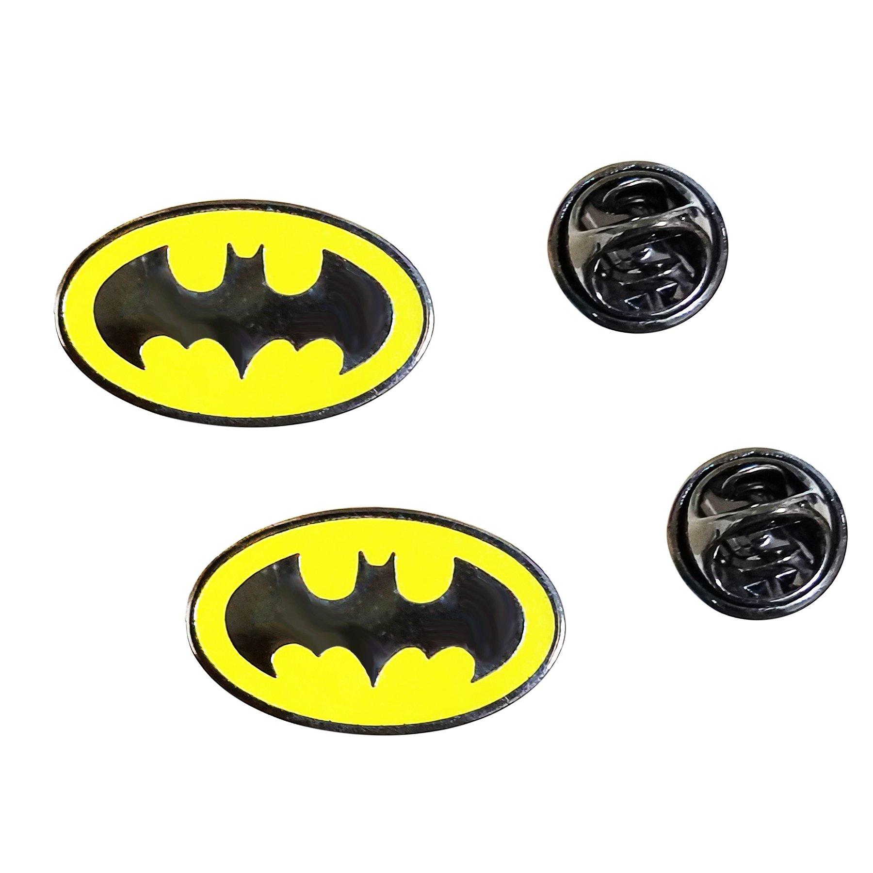 LAXPICOL 2PCS Bat Shape Enamel Pin Yellow Lapel Pin Small Brooch Pin