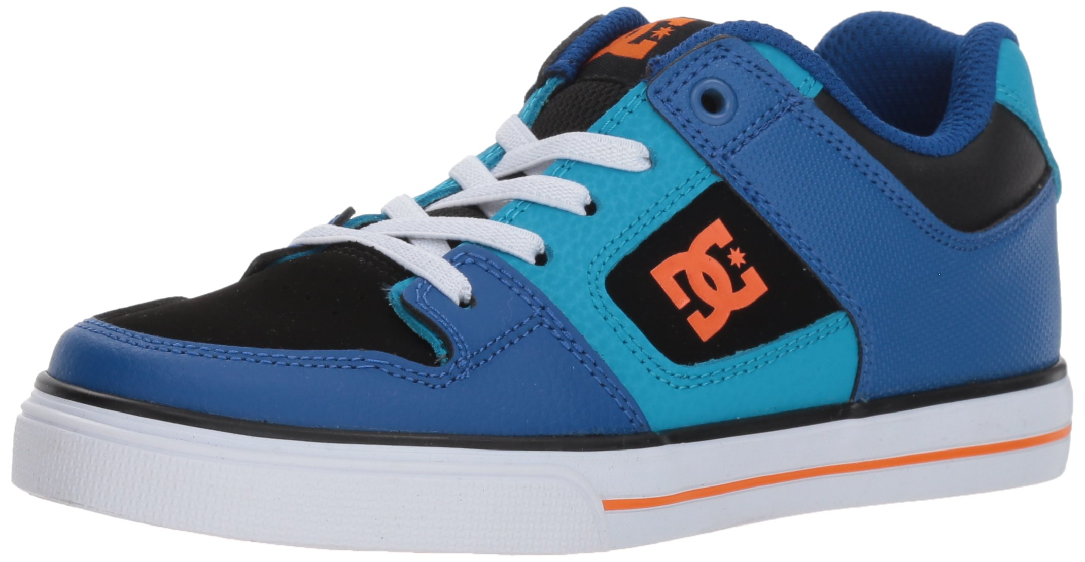 DC Kids' Pure Elastic, Blue/Blue/Orange, 5 M US Big Kid