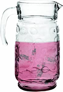 Circleware Circles Glass Beverage Drink Dispenser Pitcher, 64 oz