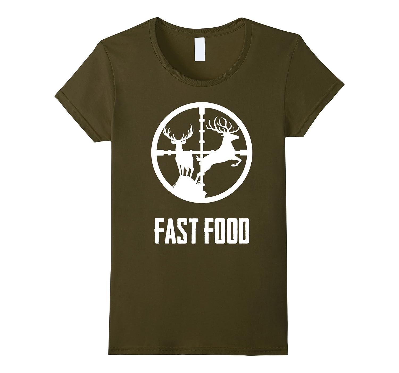 Fast Food T Shirt Hunters Hunting-Tovacu