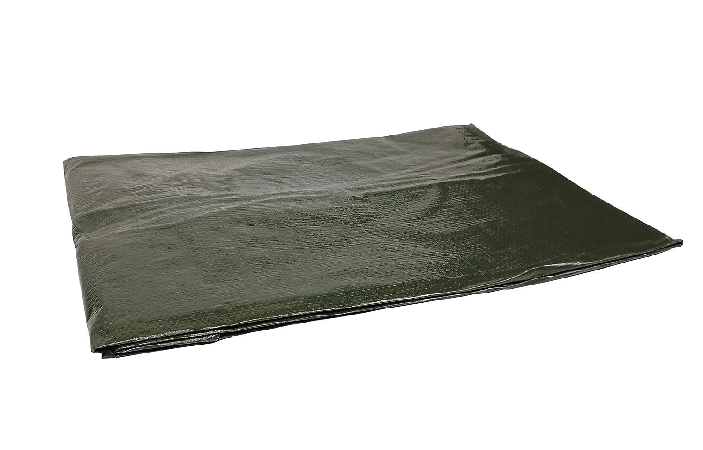 120g Toldo//Lona Reforzada Impermeable con Ojales de Acero Inoxidable 6 x 10 m Veh/ículos Color Verde Protecci/ón contra UV Para Le/ña y Objetos de Jard/ín
