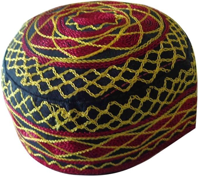 018082eb7be Kufi Hat Men Kufi kofi Topi Tupi Embroidery skull Cap Muslim Islam L Mens  310 (Model 1) at Amazon Men s Clothing store