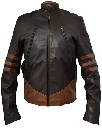 b5a1743d5 XO X-Men Wolverine Leather Jacket -Brown- Faux Leather, XS-3XL