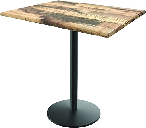 Holland Bar Stool Co. OD214-2236BWOD30SQRustic 36 Tall OD214 Season 30 x 30 Square Rustic Top Indoor Outdoor Table