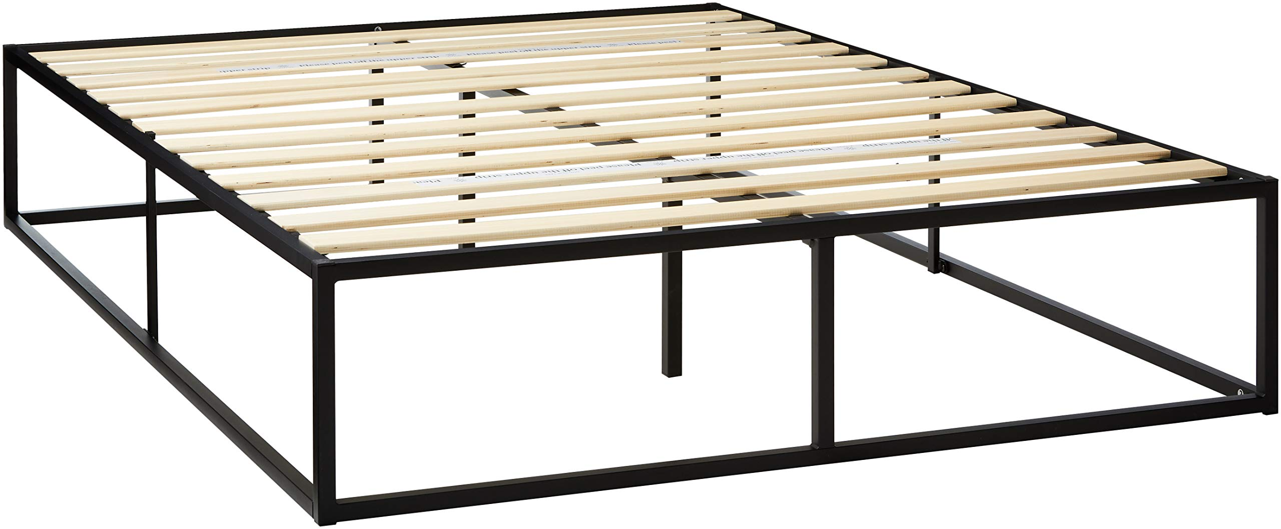Zinus Joesph Modern Studio 14 Inch Platforma Bed Frame / Mattress Foundation with Wood Slat Support, Queen