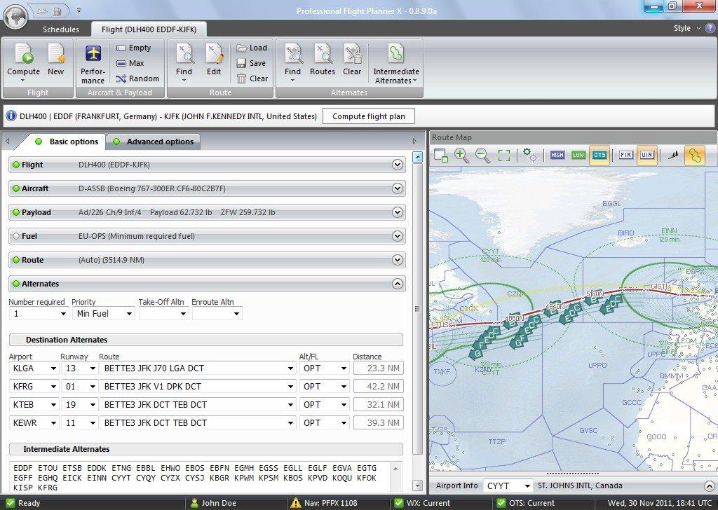 Professional Flight Planner X (FSX+P3D+FS2004)
