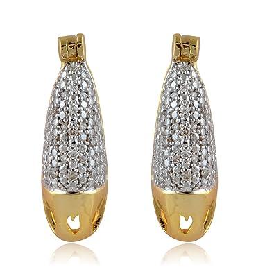 Senco Gold 14KT Diamond Stud Earrings for Women Women