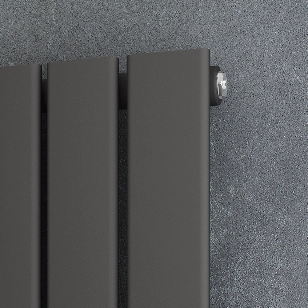 ELEGANT/Design/Flach/Heizk/örper/1800/x/308/mm/Antrazit/Badheizk/örper/Doppellagig/Heizkoerper/Vertikal/Paneelheizk/örper