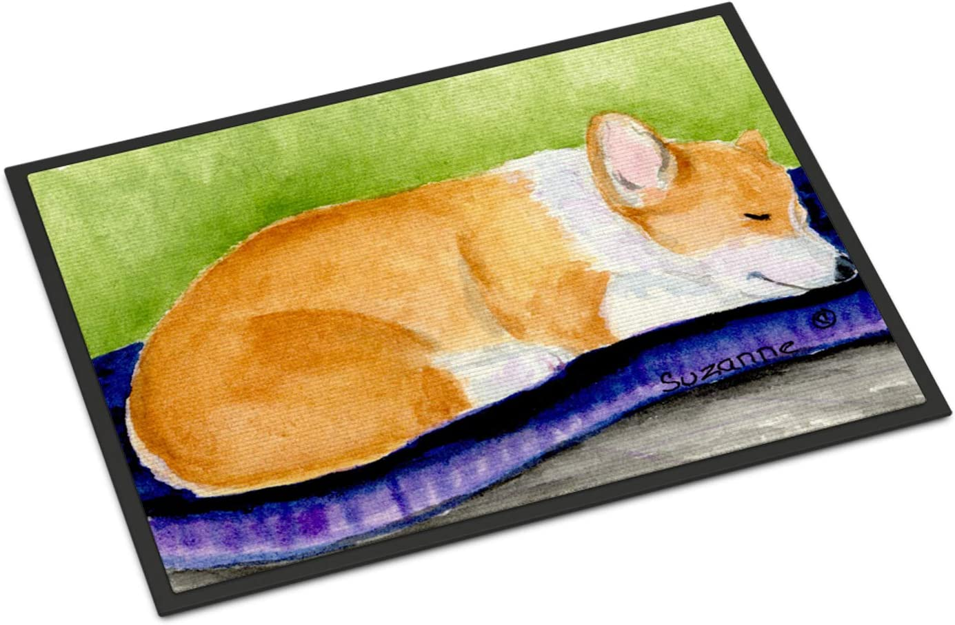 Caroline s Treasures SS8920MAT Corgi Indoor Outdoor Mat 18×27 Doormat, 18H X 27W, Multicolor
