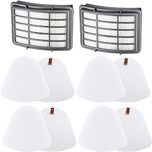 LINNIW Premium 4+2 Pack Vacuum Filter Replacement Compatible Shark Navigator Lift-Away NV350, NV351, NV352, NV355, NV356E, NV357, NV360, NV370, NV391, UV440, UV490, UV540,Replacement XFF350 XHF350