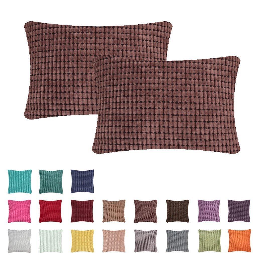 2pcs Silver Gray Throw Pillow Case Cushion Cover Pillowslip Sofa Home Decor